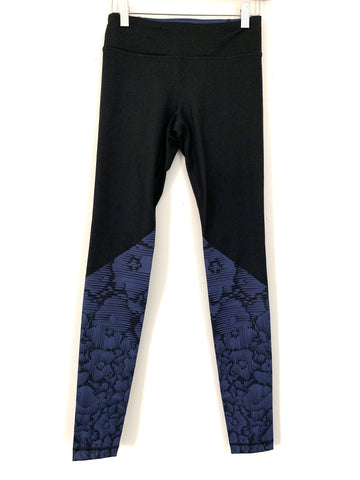 "Under Armour Full Length Legging with Purple Detail- Size ~S (Inseam 28"")"