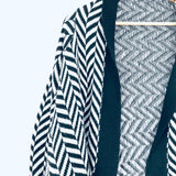 Jack Black and Grey Chevron Waterfall Cardigan- Size XS