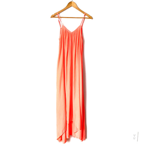 Pink Stitch Neon High Low Maxi Dress- Size 2