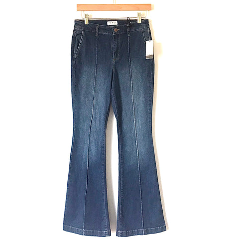 "Sofia by Sofia Vergara Jeans Carmen Pintuck Flare Jeans NWT- Size 4 (Inseam 31"")"
