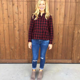 Madewell Plaid Long Sleeve Top- Size XS