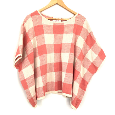 Casita de Wendy Pink Gingham Sweater- Size S