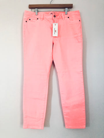 Vineyard Vines Coral Sand Ankle Jeans NWT- Size 12