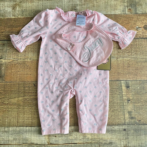 Juicy Couture Pink Outfit and Bib Set NWT- Size 0-3M