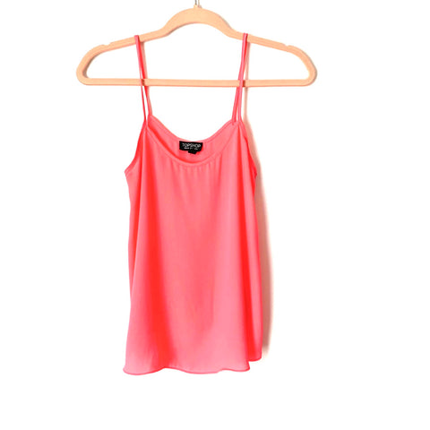 Topshop Neon Pink Tank Top - Size 2 (Jana, see notes)
