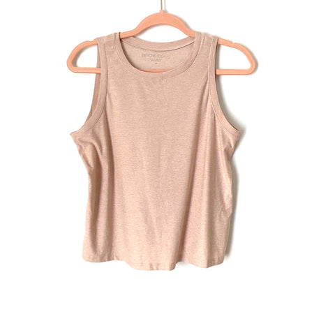 Beyond Yoga Heathered Muted Pink Tank- Size XS