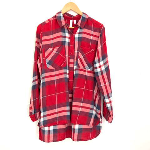 BP Red Flannel Button Up- Size S
