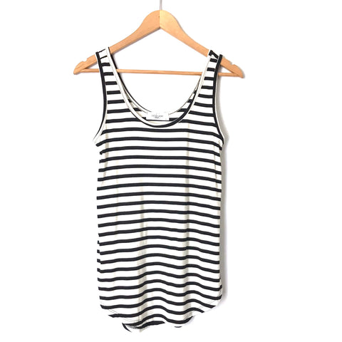 Carly Jean Black & White Stripe Tank- Size S