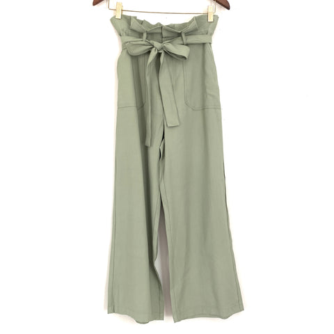 Vestique Muted Green Tie Waist Pants NWT - Size S