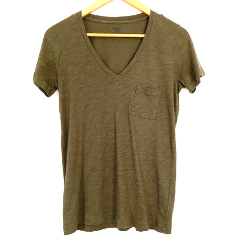 Madewell Olive Pocket Tee- Size XS