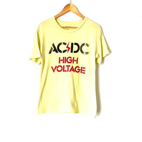 AC/DC Yellow High Voltage Graphic Tee- Size Small (See notes)