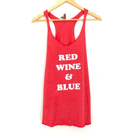 "Next Level Racerback ""Red, Wine & Blue""- Size M"