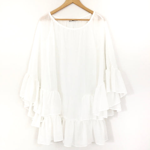 Add Loft White Sheer Cover Up- Size S (from Athens, Greece)