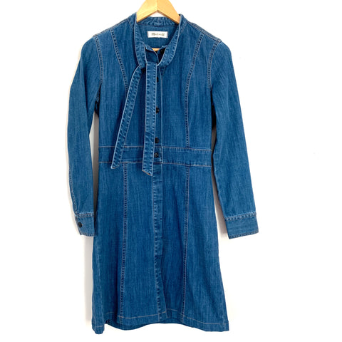 Madewell Denim Button Up Dress- Size ~XS