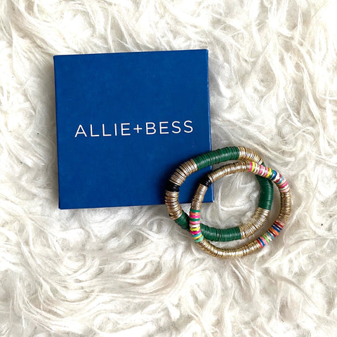 Allie + Bess Bracelet Set (including the Shak and Hunter Green)