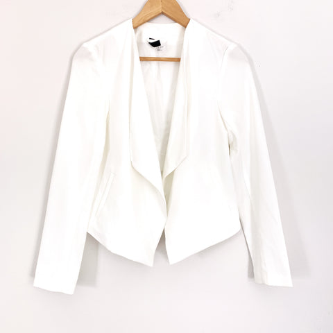 H&M Divided White Blazer- Size 6