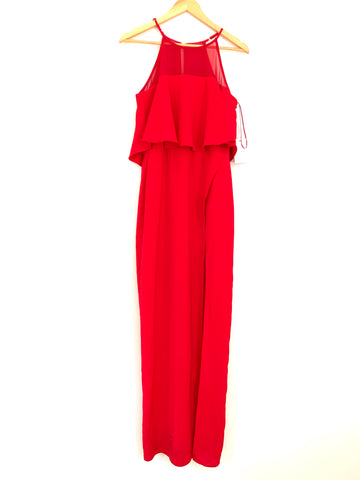 Harlyn Red Full Length Dress with Popover and Slit-Size ~S (See notes!)