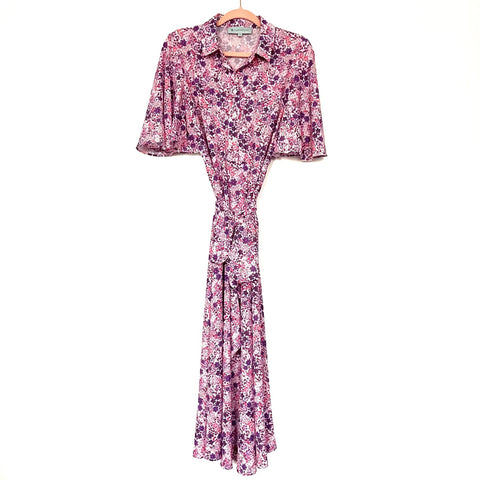 Tuckernuck Floral Button Up Belted Dress- Size M