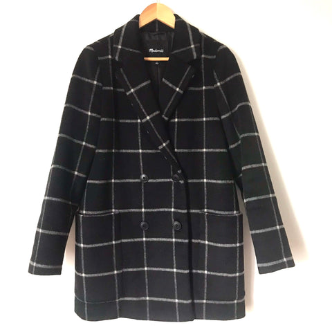 Madewell Wool/Cashmere Blend Button Up Coat- Size S