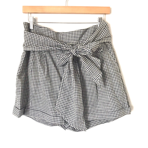 Cartonnier By Anthropologie Gingham Front Tie Shorts- Size 4