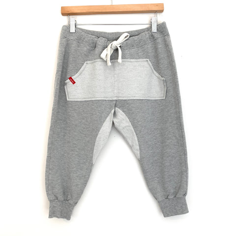 "Peace Love World Grey Cropped Jogger Pants- Size S (Inseam 17"")"