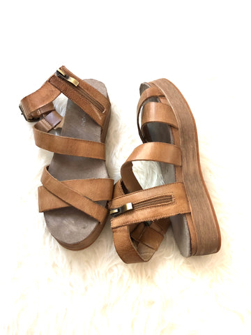 Antelope Platform Leather Sandal- Size 6.5/37