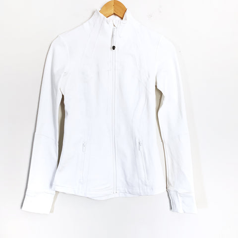 Lululemon White Define Jacket- Size 4
