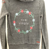 "Peace Love World ""Live Simply"" Hoodie- Size S"