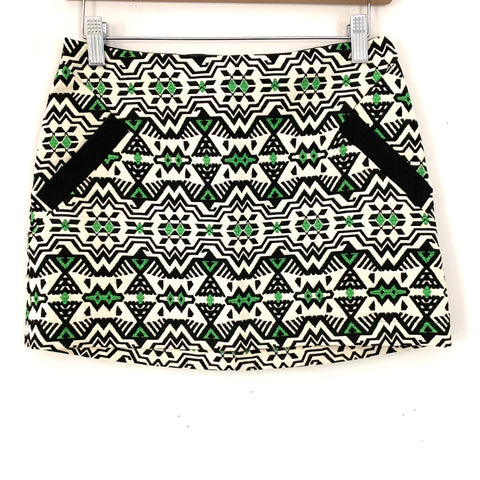 Topshop Aztec Mini Skirt with Back Zipper- Size 2