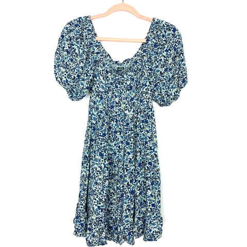 Wild Fable Light Blue Floral Print Dress- Size S