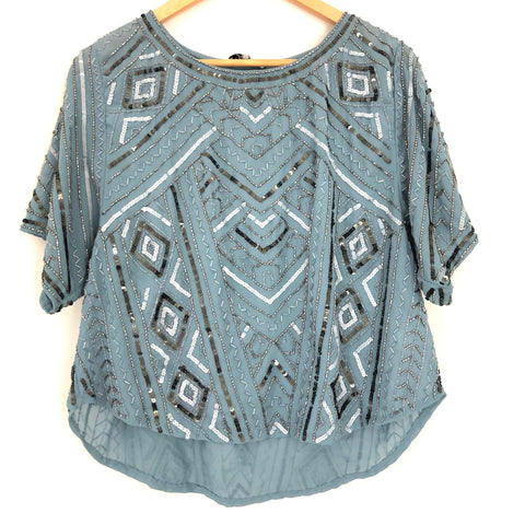 Parker Beaded Blouse- Size S