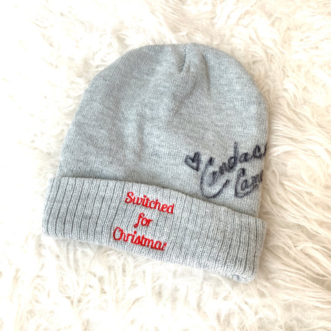 Switched for Christmas Grey Beanie AUTOGRAPHED