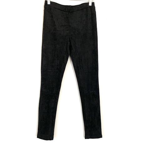 Mittoshop Black Suede Pants- Size S