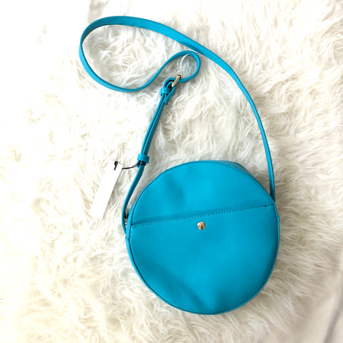 Sole Society Teal Round Crossbody Bag NWT