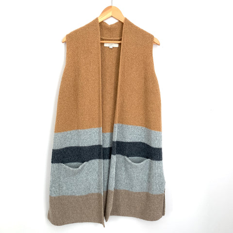 Loft Color-block Duster Sweater Vest- Size XS/S