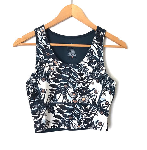 Sweaty Betty Printed Floral Crop Workout Tank- Size XS