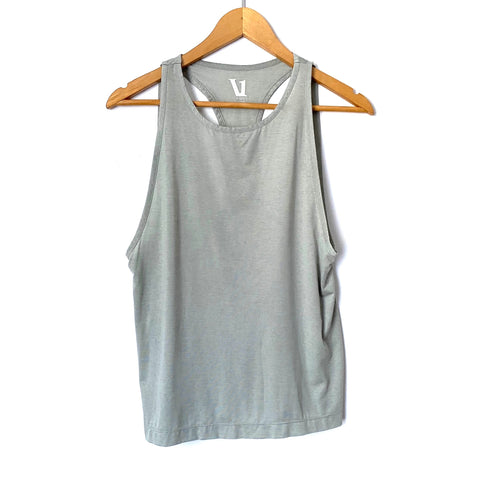 Vuori Grey Racerback Exposed Back Tank- Size XS