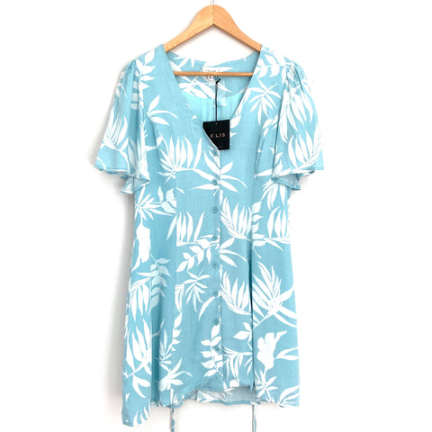 Le Lis Light Blue Button Up Dress NWT- Size S