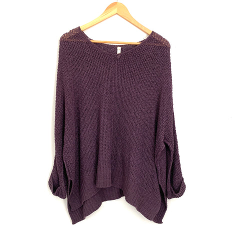 Wishlist Plum Open Knit Sweater- Size S/M