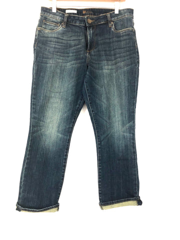 Kut from the Kloth Reese Ankle Straight Leg Jeans- Size 10