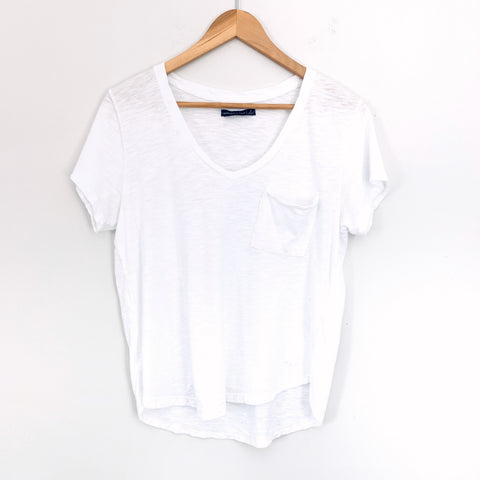 Abercrombie & Fitch White Pocket Tee- Size S