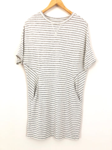 Lou & Grey Striped Cotton Dress with Pockets- Size XS