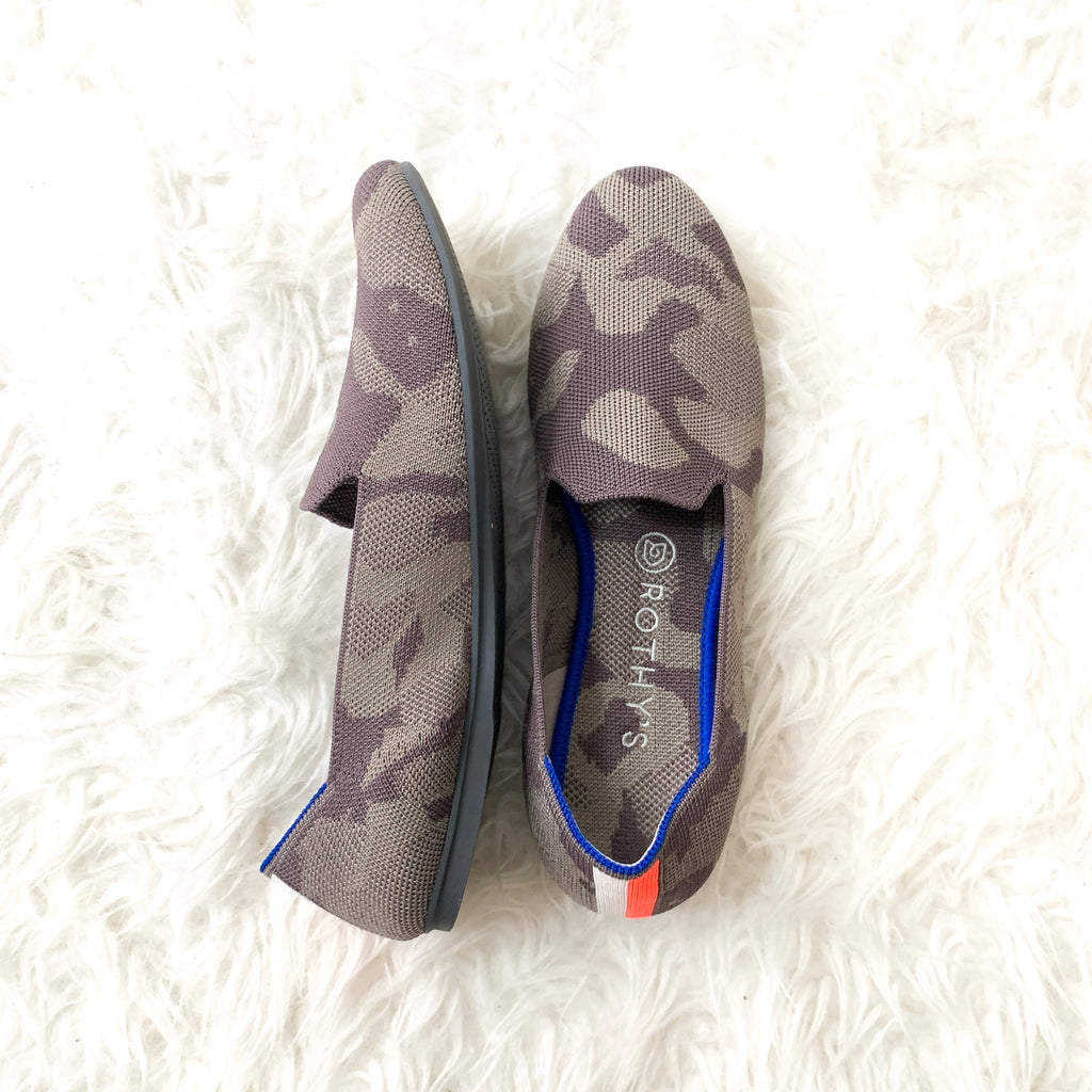 Rothy's Camo Loafer in Grey- Size 9
