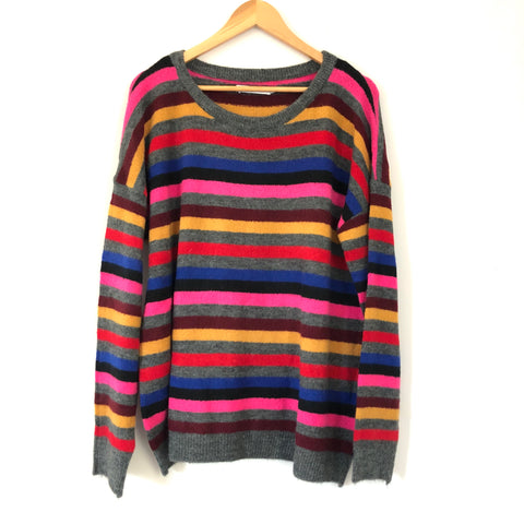 Stitches and Stripes Striped Sweater- Size L