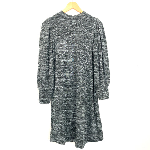 LOFT Heathered Grey Mock Neck Sweater Dress- Size XS