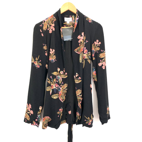 Everly Black Floral Blazer NWT- Size S