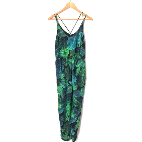 TOPSHOP Palm Crop Jumpsuit- Size 4P