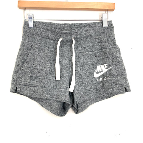 Nike Grey Drawstring Gym Shorts- Size XS
