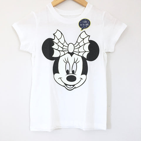 Girl's Youth Crewcuts Disney Minnie Sparkly Glow in the Dark T-shirt NWT- Size 8