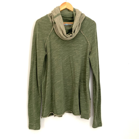 Free People Beach Olive Green Turtleneck Tunic- Size ~M